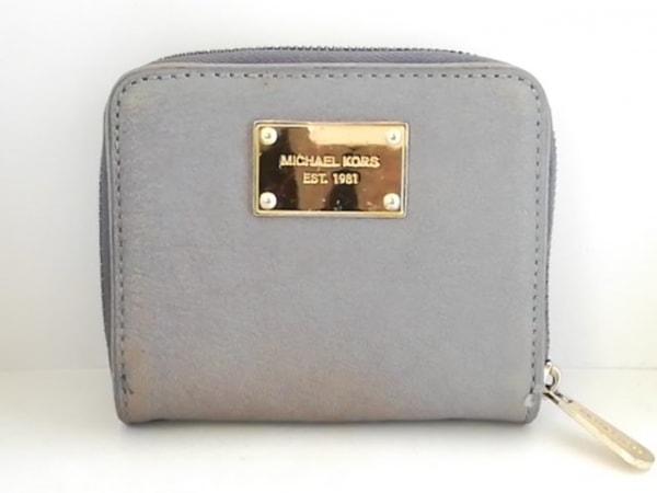 MICHAEL KORS(マイケルコース) 2つ折り財布 ブルー ラウンドファスナー レザー