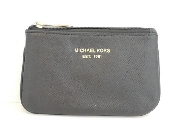 MICHAEL KORS(マイケルコース) コインケース 黒 キーリング付き レザー