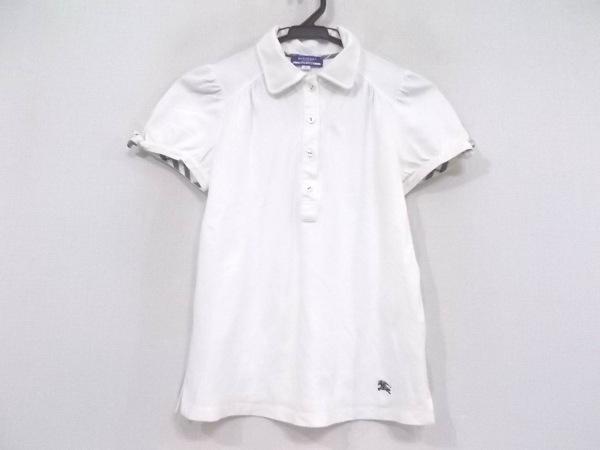 バーバリーブルーレーベル 半袖ポロシャツ サイズ38 M レディース アイボリー