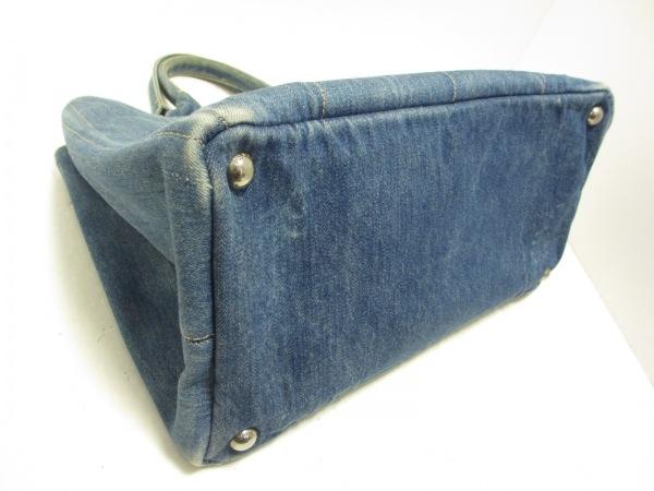 PRADA(プラダ) トートバッグ - - ブルー 革タグ デニム