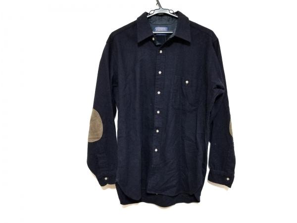 PENDLETON(ペンドルトン) 長袖シャツ サイズL メンズ美品  黒×ブラウン 肘パッド