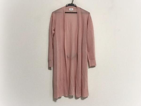 ランバンオンブルー カーディガン サイズ38 M レディース美品  ピンク ロング丈/ラメ