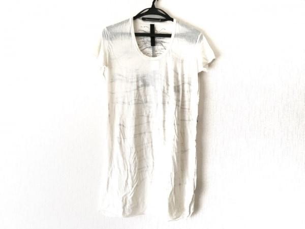 イラリアニストリ 半袖Tシャツ サイズS レディース アイボリー×ダークグレー