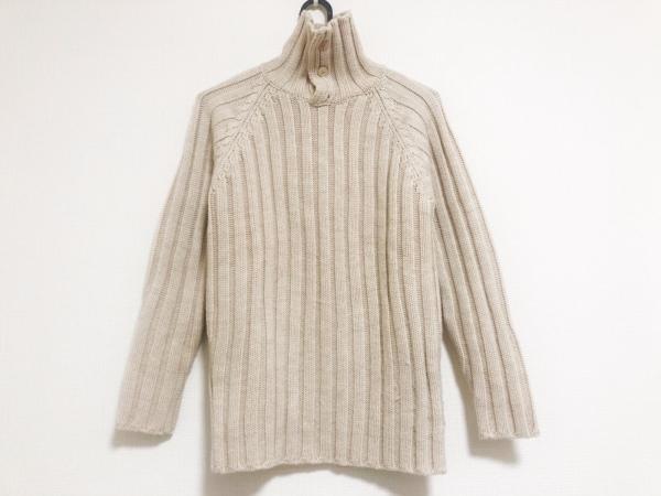 ザノーネ 長袖セーター サイズ44 L レディース美品  アイボリー タートルネック