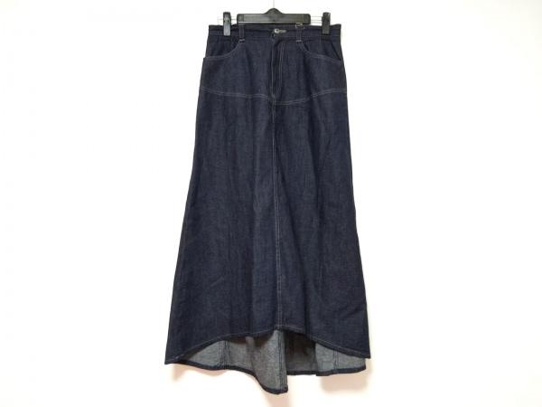 ロイスクレヨン ロングスカート サイズM レディース美品  ネイビー デニム