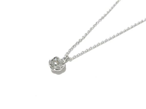 トレセンテ ネックレス美品  Pt900×Pt850×ダイヤモンド 1Pダイヤ/0.10カラット