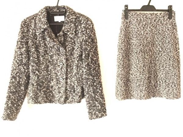 MELROSE(メルローズ) スカートスーツ サイズ4 XL レディース美品  黒×アイボリー