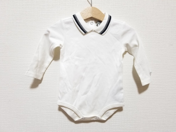 アルマーニベビー 長袖カットソー サイズ6M ユニセックス美品  白×黒×グレー