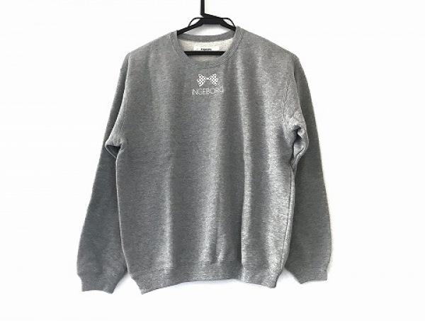 INGEBORG(インゲボルグ) トレーナー サイズL レディース美品  グレー リボン/刺繍