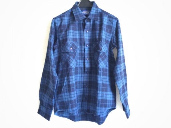 ペンドルトン 長袖シャツ サイズS メンズ新品同様  ネイビー×黒 チェック柄
