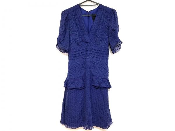 ANNA SUI(アナスイ) ワンピース サイズ2 S レディース美品  ブルー×パープル フリル