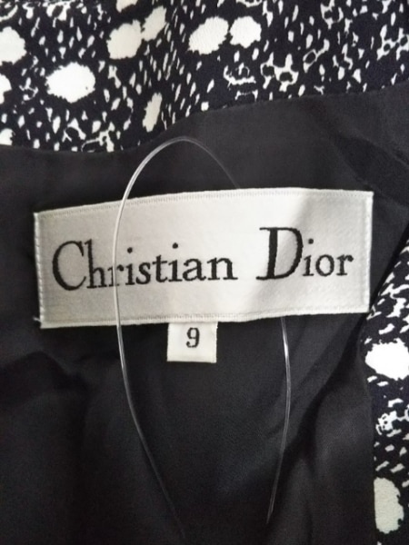 クリスチャンディオール ワンピース サイズ9 M レディース 黒×アイボリー