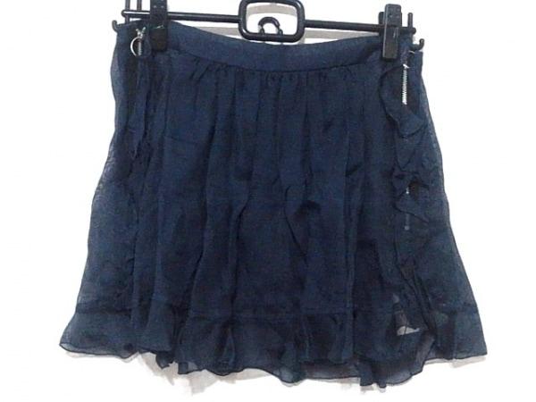 TOGA(トーガ) ミニスカート サイズ0 XS レディース美品  ネイビー フリル