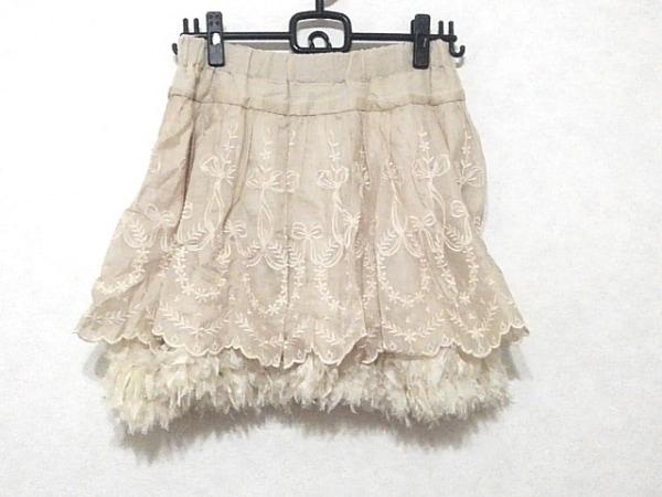 レキサミ スカート サイズ36 S レディース美品  アイボリー リボン/レース/刺繍