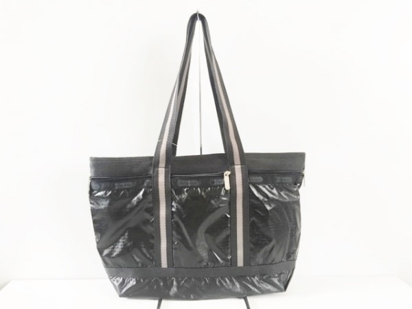 LESPORTSAC(レスポートサック) トートバッグ 黒×グレー 化学繊維