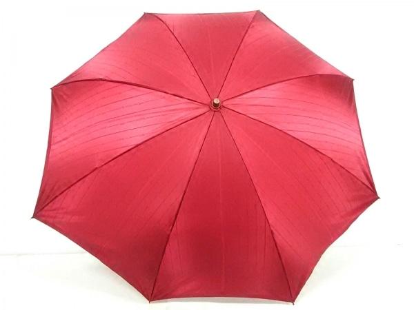YvesSaintLaurent(イヴサンローラン) 折りたたみ傘新品同様  レッド 化学繊維
