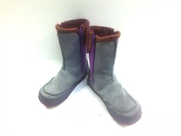 MERRELL(メレル) ブーツ レディース パープル×ダークグレー×マルチ 化学繊維