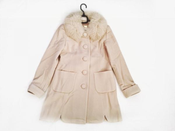 レッセパッセ コート サイズ36 S レディース美品  ベージュ ビジュー/冬物