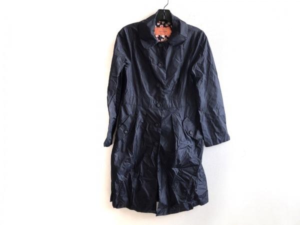 SunaUna(スーナウーナ) コート サイズ38 M レディース美品  黒 レインコート/春・秋物