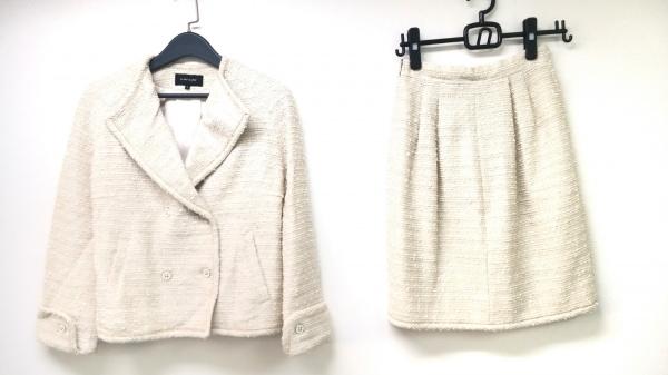 イランイラン スカートセットアップ サイズS レディース美品  アイボリー ラメ