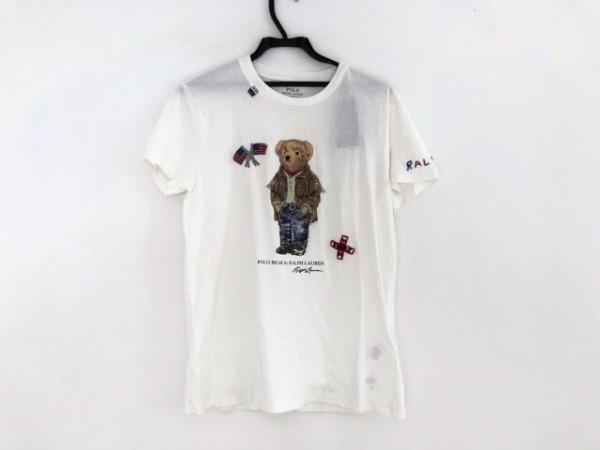 ポロラルフローレン 半袖Tシャツ サイズS(US) レディース美品  ポロベア/ビーズ