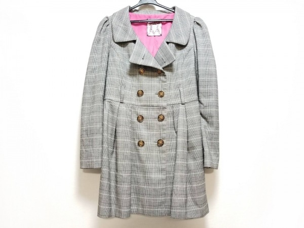 HoneyBunch(ハニーバンチ) コート サイズL レディース グレー チェック柄/春・秋物