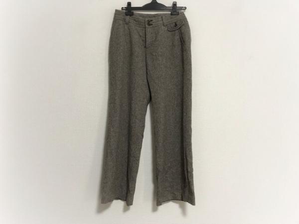 23区(ニジュウサンク) パンツ サイズ40 M レディース ダークブラウン×マルチ