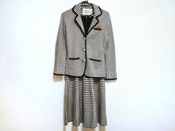 レジィーナロマンティコ ワンピーススーツ サイズ38 M レディース美品  白×黒