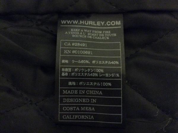 Hurley(ハーレー) ブルゾン サイズM メンズ グレー×黒