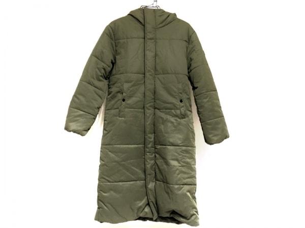 ビラボン ダウンコート サイズM レディース美品  カーキ 冬物/ダブルジップ