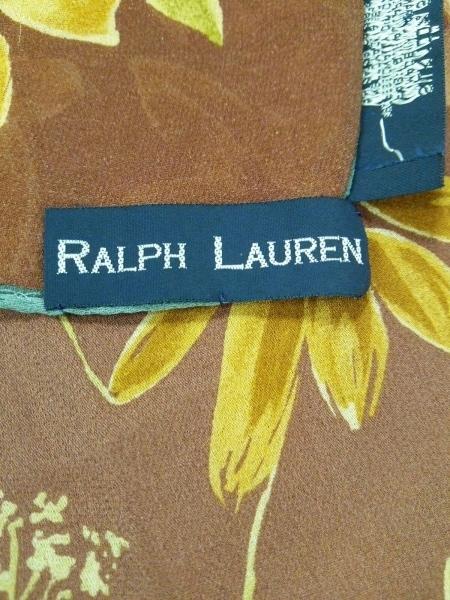 RalphLauren(ラルフローレン) スカーフ ブラウン×ベージュ×マルチ 花柄