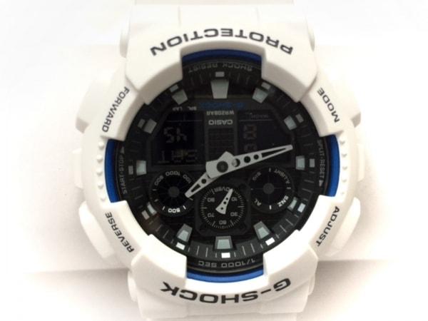 CASIO(カシオ) 腕時計新品同様  G-SHOCK GA-100B メンズ ラバーベルト ダークグレー