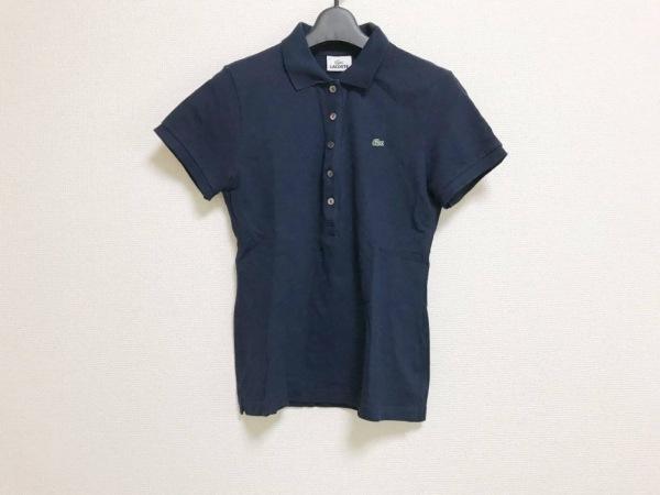 Lacoste(ラコステ) 半袖ポロシャツ レディース美品  ネイビー