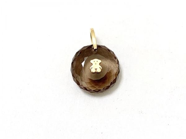 トウス ペンダントトップ美品  カラーストーン×金属素材 ブラウン×ゴールド クマ
