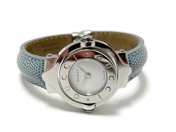 265a5a283547 ... GUCCI(グッチ) 腕時計美品 - レディース バングルウォッチ/回転文字盤/ ...