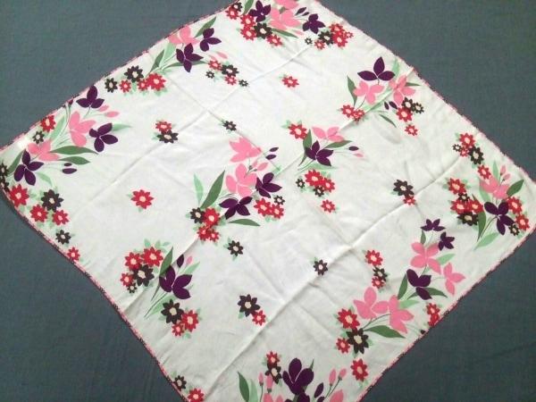 Burberry(バーバリー) スカーフ美品  ピンク×パープル×マルチ 花柄