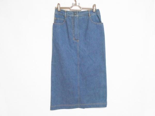 CHANEL(シャネル) ロングスカート サイズ38 M レディース美品  ネイビー デニム