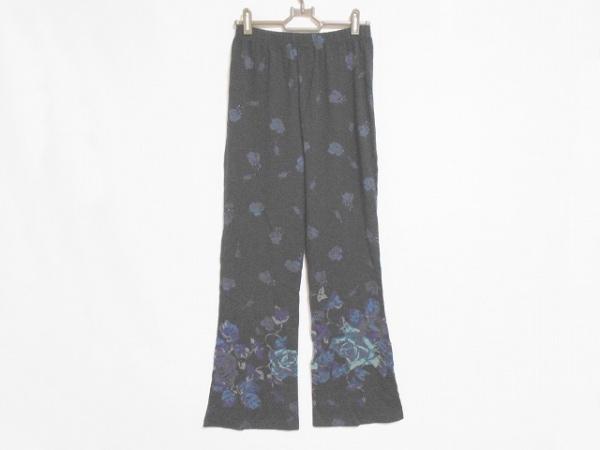 トクコ・プルミエヴォル パンツ サイズ9 M レディース美品  黒×ブルー×パープル