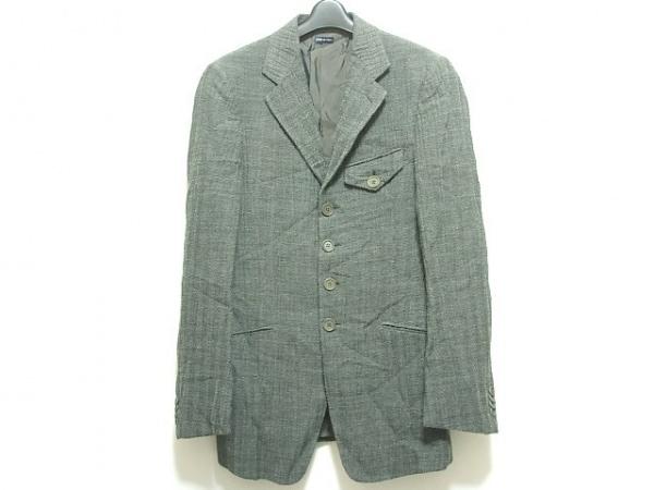 ジョルジオアルマーニ ジャケット サイズ48 M メンズ グレー×ダークグレー