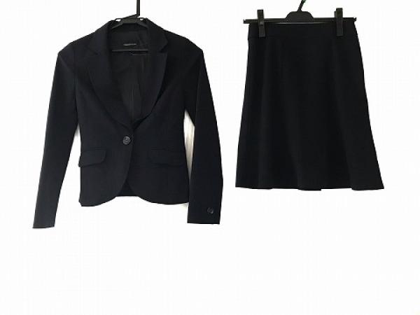 クイーンズコート スカートスーツ サイズ0 XS レディース ダークネイビー