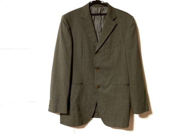 タケオキクチ ジャケット サイズ5 XL メンズ グレー×ダークグレー 肩パッド