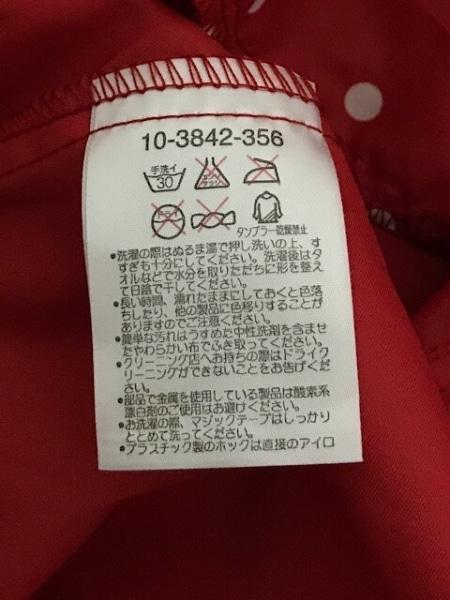ミキハウス ブルゾン サイズ110 レディース美品  レッド レインコート/春・秋物