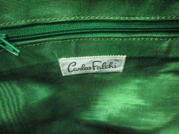 CarlosFalchi(カルロスファルチ) ショルダーバッグ ライトグリーン パイソン
