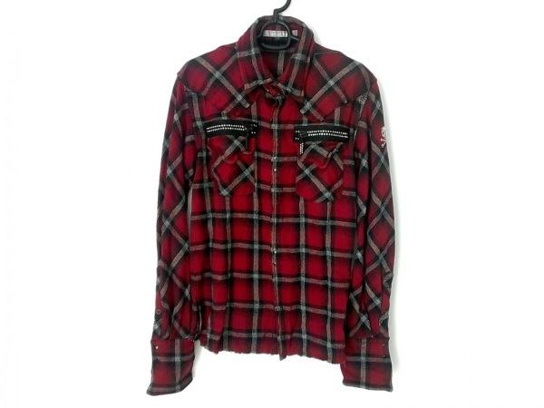 フランシストモークス 長袖シャツ サイズ2 M メンズ美品  レッド×黒×白