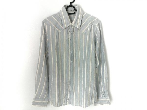 フランシストモークス 長袖シャツ サイズ2 M メンズ美品  ストライプ/ラインストーン