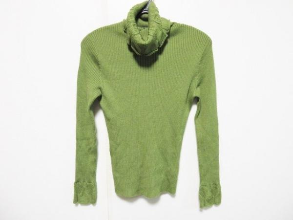 ホコモモラ 長袖セーター サイズ40 XL レディース グリーン タートルネック