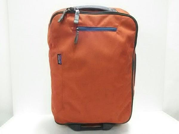 Patagonia(パタゴニア) キャリーバッグ美品  オレンジ×ダークグレー ポリエステル