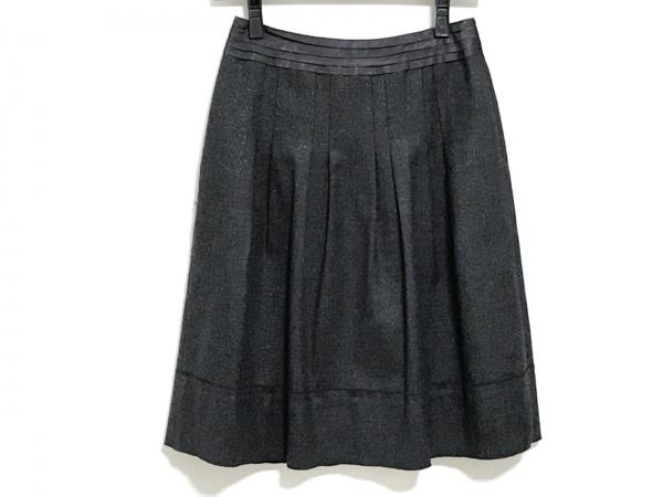 23区(ニジュウサンク) スカート サイズ32 XS レディース 黒 ラメ
