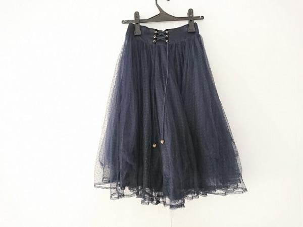 シークレットハニー スカート サイズ2 M レディース ネイビー レース/リボン/ハート