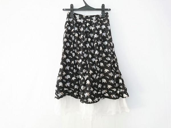 Secret Honey(シークレットハニー) スカート サイズ2 M レディース 黒×白×マルチ